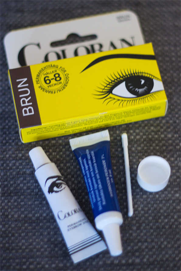 ögonbrynsfärg coloran eller depend